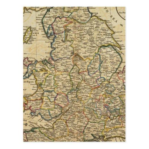 Mapa de Inglaterra y de País de Gales Postal