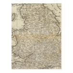 Mapa de Inglaterra y de País de Gales Postales