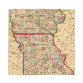 Mapa de Iowa, Missouri de Mitchell