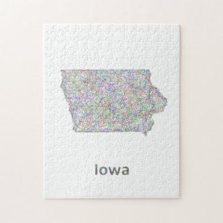 Mapa de Iowa Rompecabeza