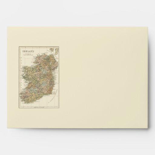 Mapa de Irlanda 1862 efectos de escritorio que se Sobres