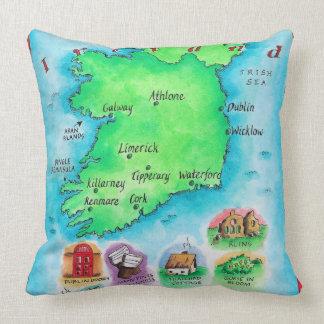 Mapa de Irlanda Cojín Decorativo