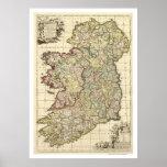 Mapa de Irlanda de Federico de Wit 1710 Impresiones