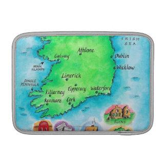 Mapa de Irlanda Funda Macbook Air