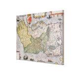 Mapa de Irlanda Impresión En Lona Estirada