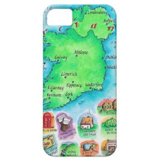 Mapa de Irlanda iPhone 5 Funda