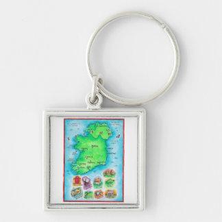 Mapa de Irlanda Llavero