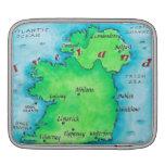 Mapa de Irlanda Mangas De iPad