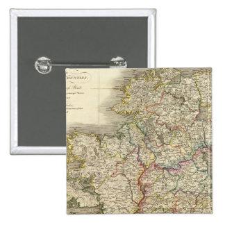Mapa de Irlanda Pin Cuadrado