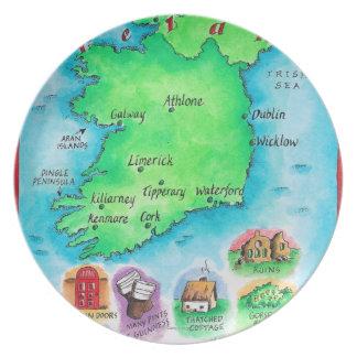 Mapa de Irlanda Plato De Comida