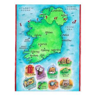 Mapa de Irlanda Postales