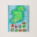 Mapa de Irlanda Rompecabezas Con Fotos