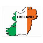 Mapa de Irlanda Tarjetas Postales