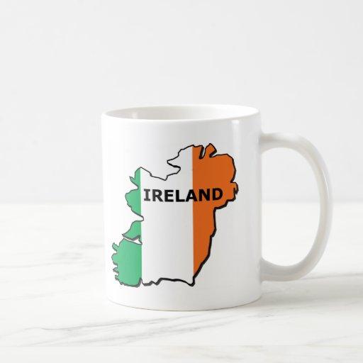 Mapa de Irlanda Taza