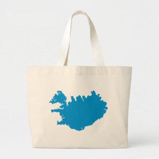 Mapa de Islandia Bolsas De Mano