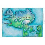 Mapa de Islandia Felicitaciones