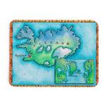 Mapa de Islandia Iman Rectangular