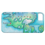 Mapa de Islandia iPhone 5 Case-Mate Coberturas