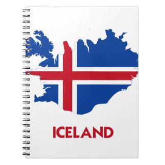 MAPA DE ISLANDIA LIBRETA