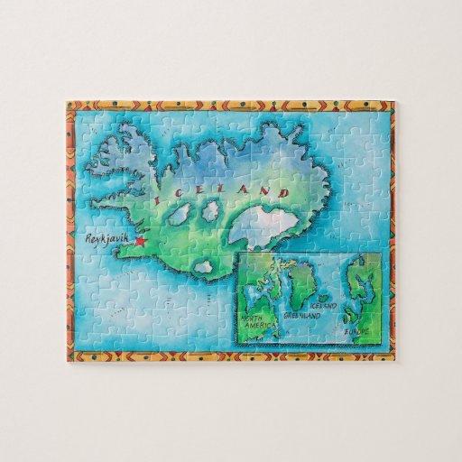 Mapa de Islandia Rompecabeza
