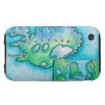 Mapa de Islandia Tough iPhone 3 Carcasas