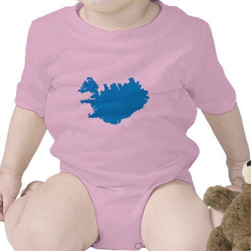 Mapa de Islandia Trajes De Bebé