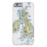Mapa de islas británicas funda de iPhone 6 barely there