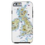 Mapa de islas británicas funda de iPhone 6 tough