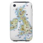 Mapa de islas británicas iPhone 3 tough cárcasas