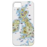 Mapa de islas británicas iPhone 5 cárcasa