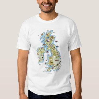 Mapa de islas británicas poleras