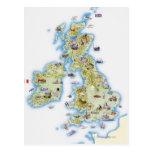 Mapa de islas británicas postal
