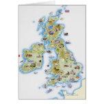 Mapa de islas británicas tarjeta de felicitación