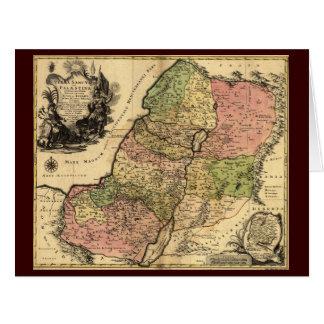 Mapa de Israel antiguo con las 12 tribus Tarjetón