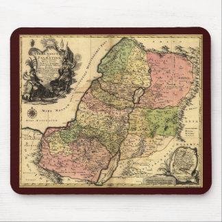Mapa de Israel antiguo con las 12 tribus Tapete De Raton