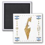 Mapa de Israel + Imán de las banderas