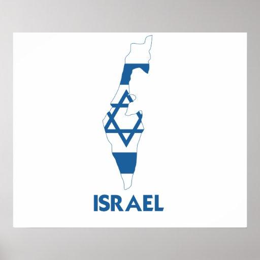 MAPA DE ISRAEL PÓSTER