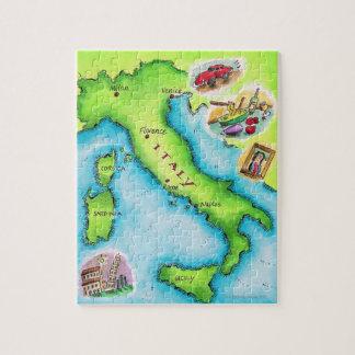 Mapa de Italia 2 Rompecabeza Con Fotos