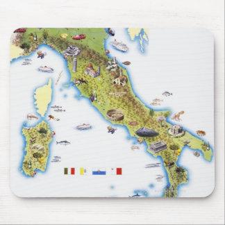Mapa de Italia Alfombrilla De Ratón
