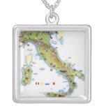 Mapa de Italia Collar