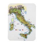 Mapa de Italia Iman De Vinilo