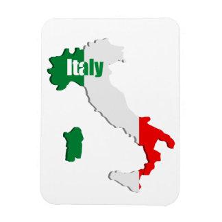 Mapa de Italia Imanes Rectangulares