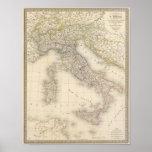 Mapa de Italia Impresiones