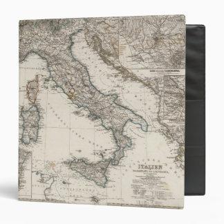 """Mapa de Italia por Stieler Carpeta 1 1/2"""""""
