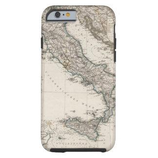 Mapa de Italia por Stieler Funda Para iPhone 6 Tough