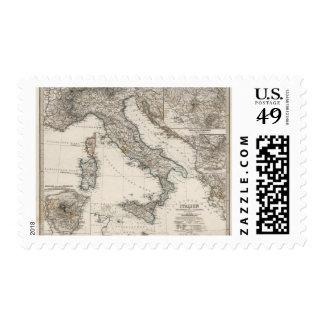 Mapa de Italia por Stieler Envio