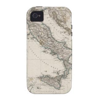 Mapa de Italia por Stieler Vibe iPhone 4 Carcasas