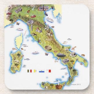 Mapa de Italia Portavasos