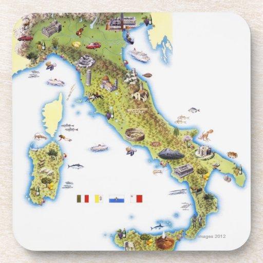 Mapa de Italia Posavaso