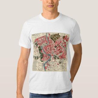 Mapa de Italia Roma del italiano del vintage de Remeras